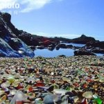 美国北加州布拉格堡的玻璃海滩 Fort Bragg Glass Beach