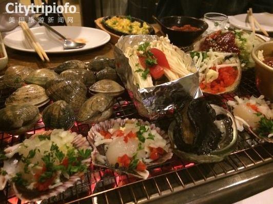 洛杉矶韩国城便宜又新鲜的烤海鲜-Get Bbul