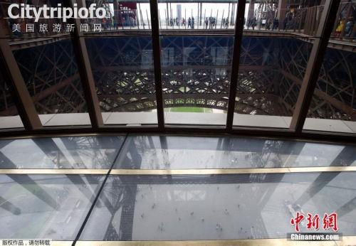 《埃菲尔铁塔新建玻璃地板 可从高空俯瞰地面(图)》