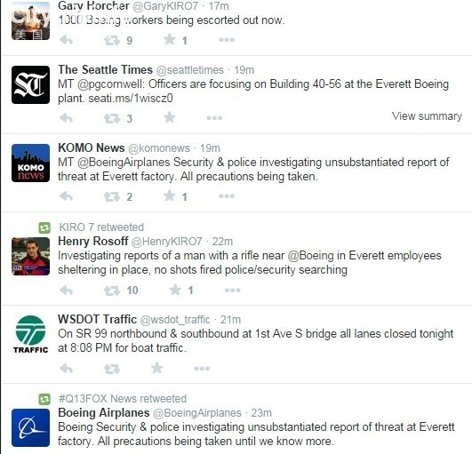 波音华盛顿工厂疑现持枪男子 员工紧急疏散
