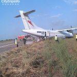 尼日利亚一客机着陆后冲出跑道