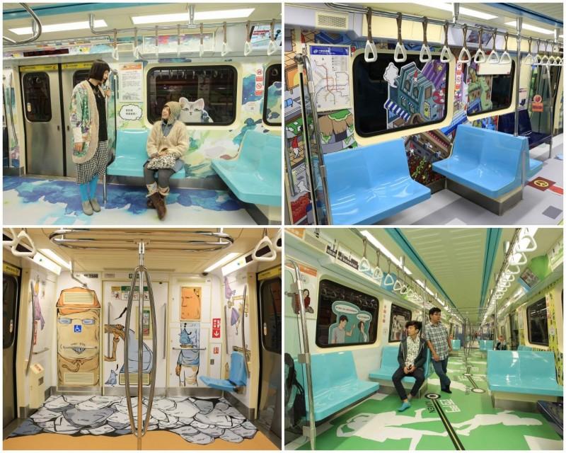 捷运松山线 行动美术馆 首发列车美美登场