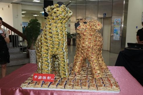 2015台湾灯会!丰原火车站变身梦幻糕饼屋