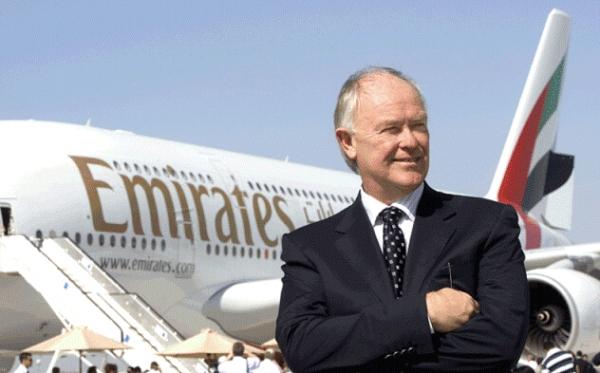 《阿联酋航总裁力挺A380:市场需要巨无霸客机》