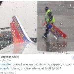 纽约机场两架737发生剐蹭 一架翼梢小翼受损