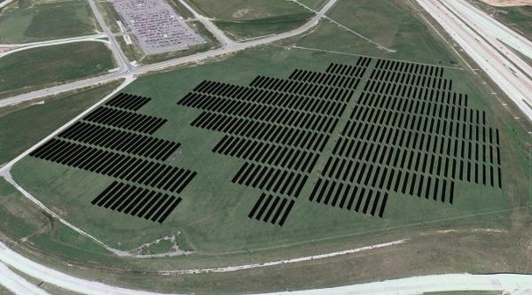 《美国最大机场太阳能发电站接入电网》