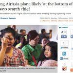 印尼官方怀疑失联亚航飞机已沉海底