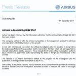 空客:印尼主导QZ8501调查 将提供技术支持