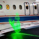 镭射光显示机翼气流运动 助飞机降噪省油