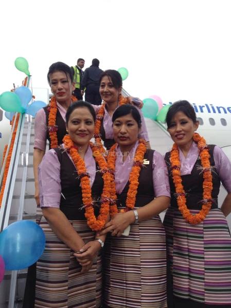尼泊尔航空接收首架A320 将飞印度德里航线