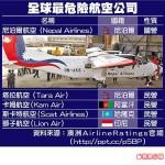 5家最危险航空 全部在亚洲