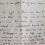 一封乘客致英飞行员的感谢信 推特上引发疯转