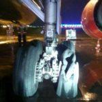 伊朗一客机起飞滑跑时发动机爆裂起火
