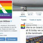 美国各航空公司纷纷为同性婚姻合法裁决点赞