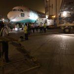 沙特客机遭餐车撞击受损 车辆驾驶员受轻伤