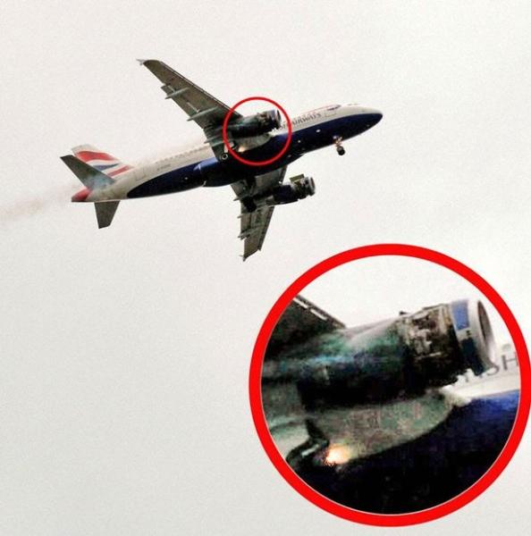 《英航客机两引擎盖空中掉落 缘为机务修错飞机》