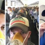 """美联航客机紧急备降 乘客秀""""氧气面罩自拍"""""""