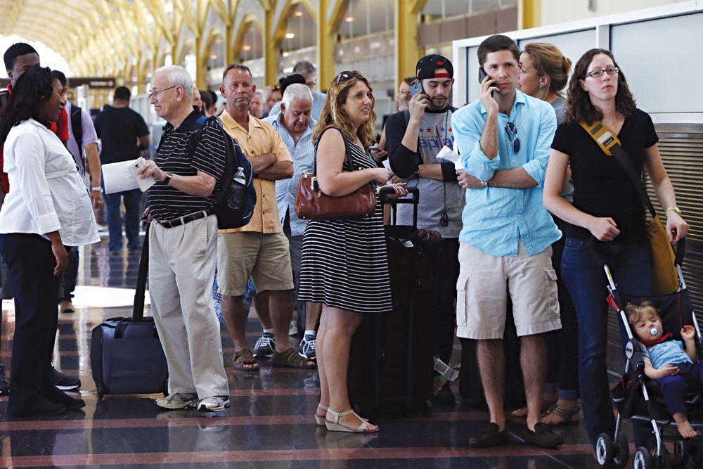 《计算机故障导致纽约,华盛顿数百航班延误》