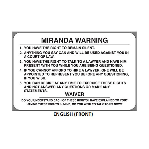 """Miranda Warning、Miranda rights""的图片搜索结果"
