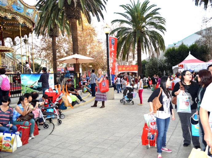 《洛杉矶的中国访客超百万人次》