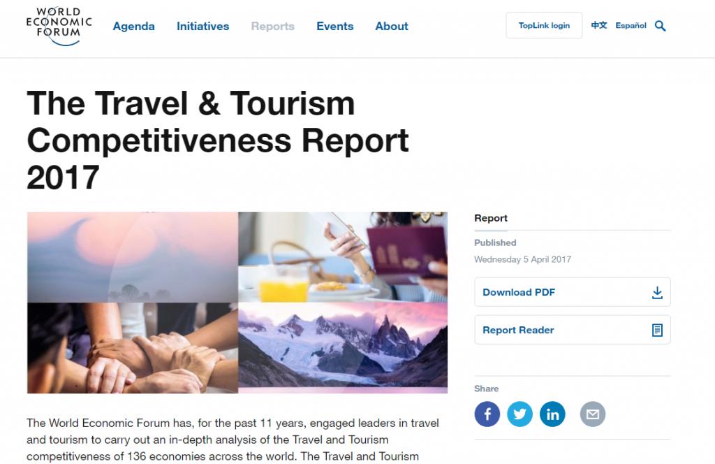 《2017年旅游业竞争力报告》