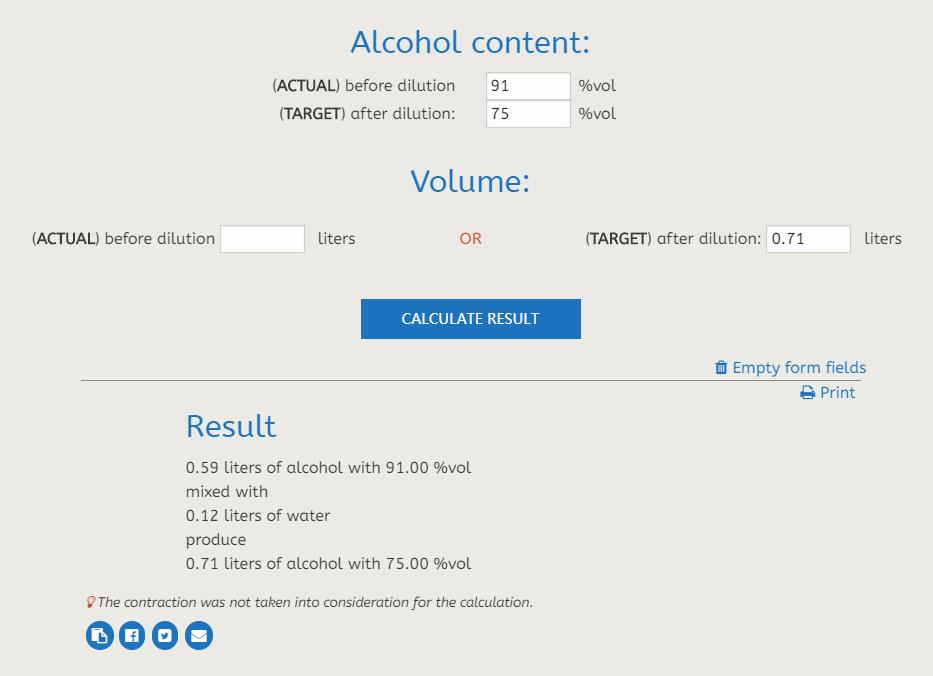 《怎么稀释91%的酒精?买不到75%的酒精?勾兑方法》